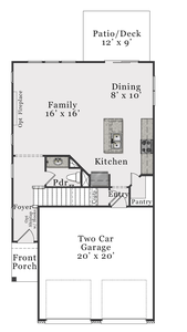 First Floor B. Alexander New Home Floor Plan
