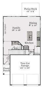 First Floor C. Alexander New Home Floor Plan
