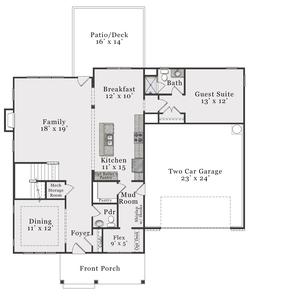 Coastal First Floor. Beaufort 2020 New Home Floor Plan