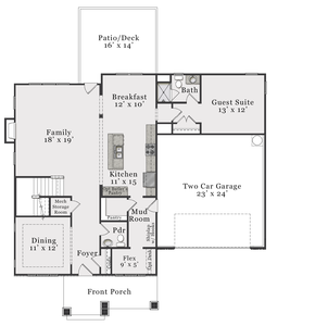 Craftsman First Floor. 3,274sf New Home