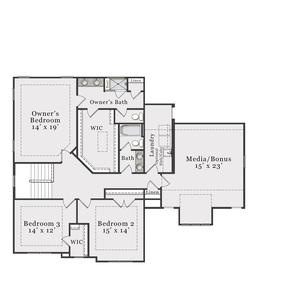 Craftsman Second Floor. Beaufort 2020 New Home Floor Plan