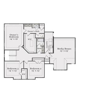 European Second Floor. 3,274sf New Home