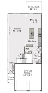First Floor B. 3br New Home in Bolivia, NC