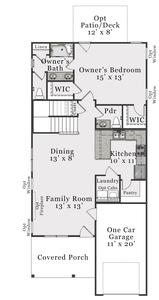 First Floor A. Joyner New Home Floor Plan