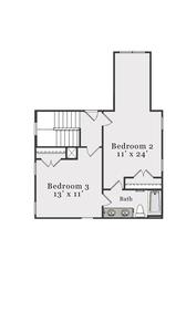 Second Floor. Joyner Home with 3 Bedrooms