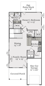 First Floor B. 1,605sf New Home