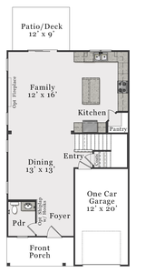First Floor A. 1,788sf New Home