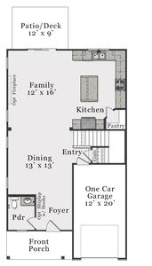 First Floor C. Metcalf New Home Floor Plan