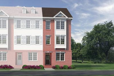 Elevation B End Unit. Wake Forest, NC New Home