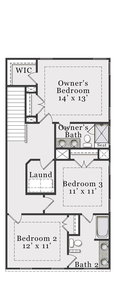 Third Floor. 2,420sf New Home in Wake Forest, NC