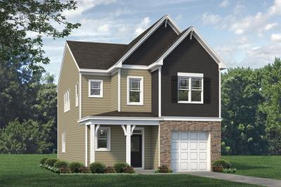 Elevation C. 2,029sf New Home in Bolivia, NC