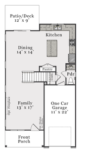 First Floor B. 1,733sf New Home in Bolivia, NC