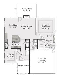 Coastal First Floor. Biltmore 2020 New Home Floor Plan