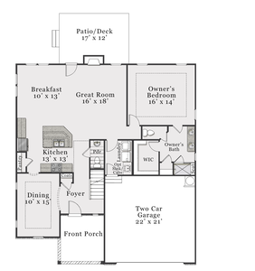 European First Floor. Biltmore 2020 New Home Floor Plan