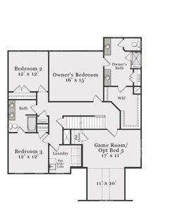 European Second Floor. 2,929sf New Home