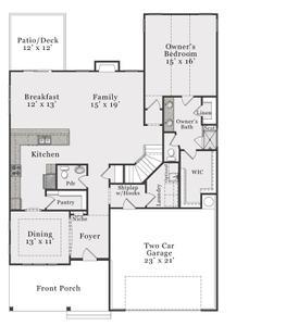 Coastal First Floor. 3,353sf New Home in Raeford, NC