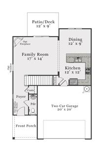 Craftsman First Floor. Dalton 2020 New Home in Leland, NC