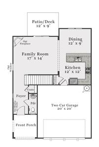 European First Floor. Dalton 2020 New Home in Leland, NC