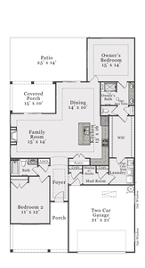 Craftsman First Floor. 2br New Home in Clayton, NC