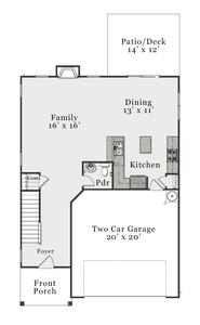 Coastal First Floor. Supply, NC New Home