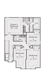 European Second Floor. Sullivan 2020 New Home in Supply, NC