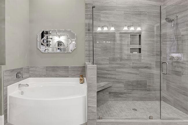 top home design trends -frameless shower doors