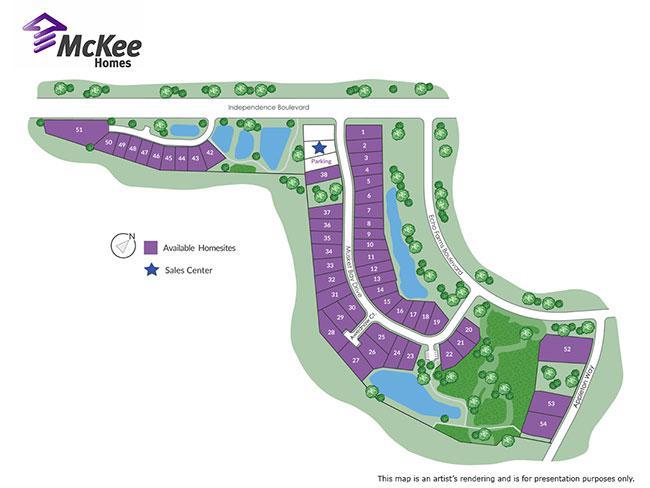 Woodlands at Echo Farm sitemap