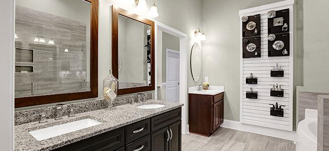 new homes selection tips bathroom cabinets