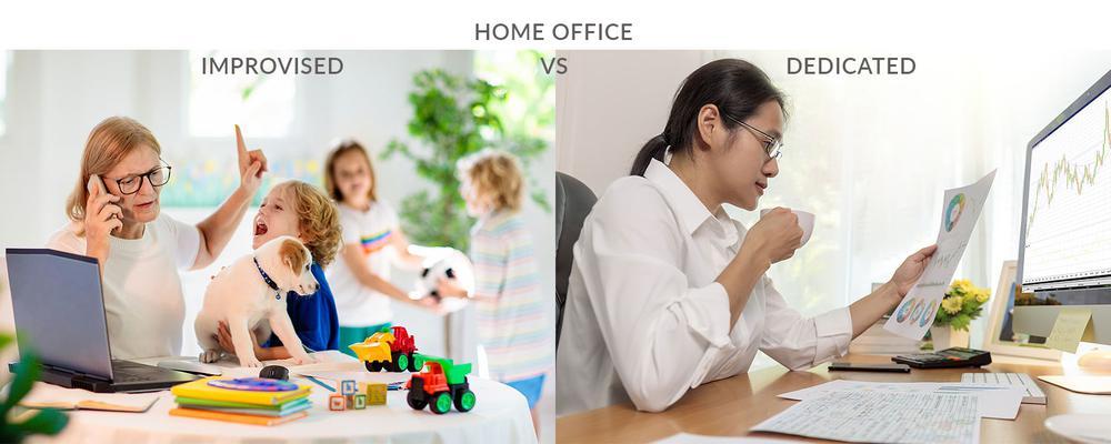 Improvised Vs Dedicated Home Office