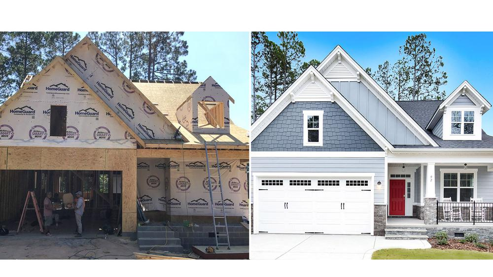 'Before and After' of Building A Home in 82 Days