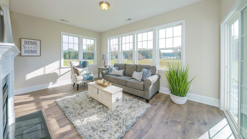 New Construction Home With Sunroom